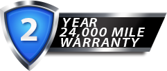 2 Year 24,000 Mile Standard Warranty