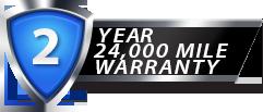2 Year 24,000 Mile Standard Warranty